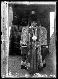 Wealthy Yakut woman in fur clothing, Siberia, 1902