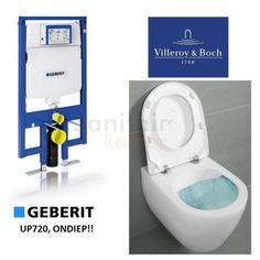 Geberit UP720 Toiletset, Villeroy en Boch Subway Direct flush