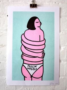Feelin' Myself/ Risograph print