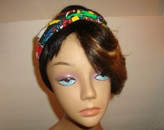Dolly bow Wired headband tie pin up hair bow by orangemonkeydreams