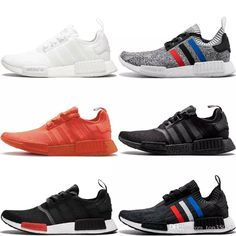 ec9ce909bf3df 2018 Adidas Nmd R1 Primeknit Pk Best Quality Running Shoes Classic Mesh  Triple White Cream Salmon