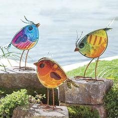 """Found it at Joss & Main - 3-Piece Garden Bird Statuette Set  $35  12"""" TALL"""