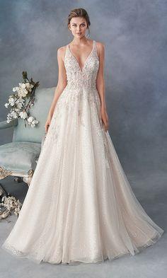 Strappy Wedding Dress, Blush Pink Wedding Dress, Princess Wedding Dresses, Bridal Dresses, Wedding Gowns, Wedding Reception, Lace Wedding, Bridesmaid Dresses, Stunning Wedding Dresses
