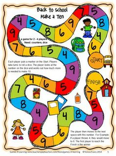 BACK TO SCHOOL - MATH GAMES SECOND GRADE - by Games 4 Learning This collection of back to school math games contains 14 printable games. $