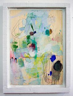 Josias Scharf...art with white frames...love