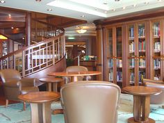 Cunard Queen Victoria Library (2) by garybembridge, via Flickr - visit my site at http://www.tipsfortravellers.com for more on travel