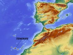 Map showing location of Tenerife Barbara Kingsolver, Map Globe, World Geography, Topographic Map, Canario, Canary Islands, Historical Maps, Archipelago, Time Travel