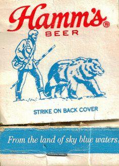 Hamm's Beer matchbook