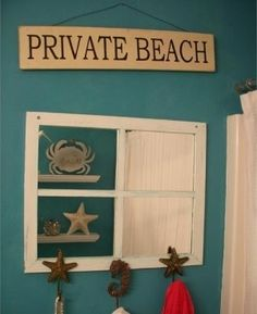 I have a beach sign but I want to add this frame to my kids bathroom!