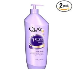 Things to buy during a trip in the US: Olay Quench Plus Firming Body Lotion (not available in Europe)
