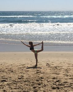 beach yoga #travelinbee