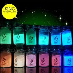 12 Colors-Super Bright Glow in the Dark Glow Luminous Pigment