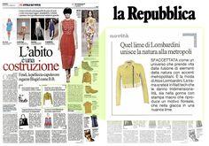 La REPUBBLICA Italia - September 20th 2013 _ Pag. 57: Lime #bomber jacket by #AtosLombardini.