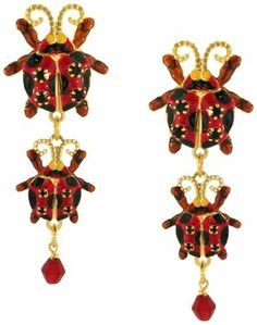 Lunch at The Ritz 2GO USA Leading Lady Earrings - Red Clips Lunch at The Ritz. $60.00