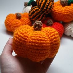 Hi all! I have a really simple and festive amigurumi pattern to share with you all: PUMPKINS! As you can see, I maaaaybe went a little overboard on making them. I really like fall, okay? So to shar…