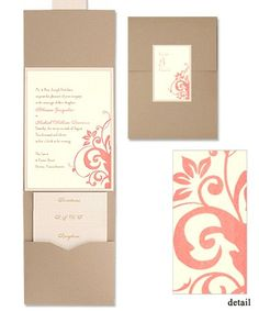 Cassandra Folio Pocket Wedding Invitations by MyGatsby.com