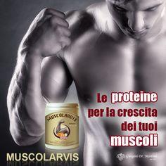 MUSCOLARVIS Dr. Giorgini - un prodotto a base di #proteine e arricchito con vitamine e sali minerali. Le proteine sono fondamentali per fare crescere o a mantenere la massa muscolare. http://www.drgiorgini.it/index.php/a1-serimustvanvs375-drg-muscolarvis-t-vitaminsport-alla-vaniglia-375-g-pastiglie