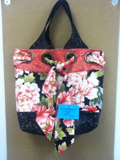 """Learn how to make this all purpose bag the """"My Favorite Bag""""! We have the fabric and the pattern. Finished bag is 18"""" tall 15"""" wide 5""""deep #katicupcake #pattern #sewspecailinc"""
