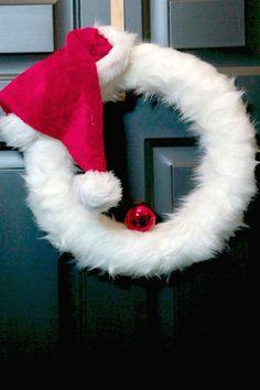 Santa Wreath Idea
