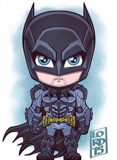 Chibi Batman by Lord Mesa Batman Robin, Im Batman, Funny Batman, Gotham Batman, Chibi Marvel, Marvel Dc Comics, Batman Chibi, Batman Arkham Knight, Batman The Dark Knight