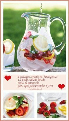 Summer Drinks, Cocktail Drinks, Alcoholic Drinks, Healthy Detox, Healthy Drinks, Healthy Recipes, Menu Dieta, Light Diet, Water Recipes