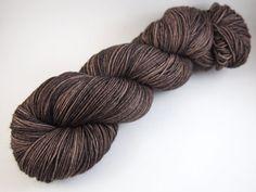 Bark Hand Dyed Sock Yarn Superwash Merino Wool / by JanuaryYarns