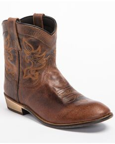 Roper Women's Brown Selah Booties - Round Toe - Country Outfitter Short Cowgirl Boots, Kids Western Boots, Cowboy Boots Women, Kids Boots, Dingo Boots, Duty Boots, Roper Boots, Rest, Boots