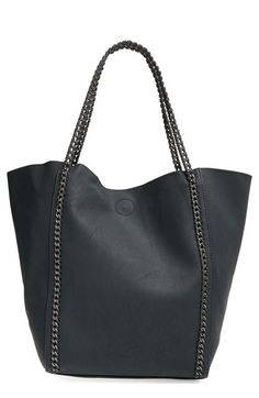 Phase 3 Chain Faux Leather Tote available at #Nordstrom