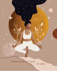 Yoga Illustration, Words Wallpaper, Spiritual Love, Angel Pictures, Print Pictures, Aesthetic Art, Love Art, Art Sketches, Creative Art