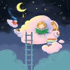 Preparada para soñar (ilustración de Анна Чернышова-Anna Chernyshova)