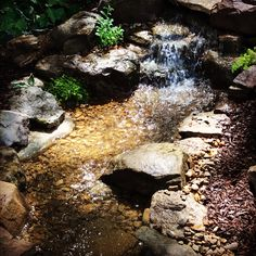 This Pondless Waterfall looks like it has been here awhile, but we actual just turned it on 😊 I ❤️ Pondless Waterfalls!