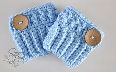 Chunky Boot Cuffs ~ free pattern