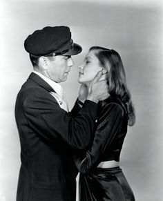 """Bogart and Bacall in """"To Have and Have Not"""" (1944)"""