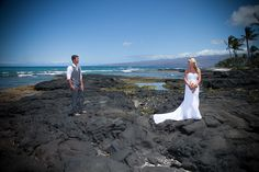 This wedding was shot at the Mauna Lani Resort and Spa on the lava rock just off the beach.    Kona Wedding Photographer, Eye Expression | Big Island, Hawaii  www.eyeexpression.com