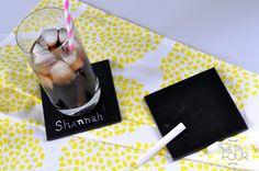 I am making these! Chalkboard Ceramic Coasters