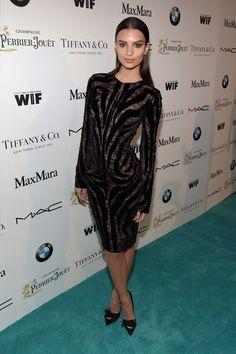 Model Emily Ratajkowski at the #WIFOscars