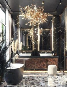 4 Hacks to Create a Luxury Bathroom Design - Looking for some ideas for your bathroom? Try these 4 hacks to create a luxury bathroom design. Bathroom Design Luxury, Luxury Interior Design, Modern Luxury Bathroom, Minimal Bathroom, Interior Architecture, Interior Design Wall, Interior Ideas, Interior Inspiration, Travel Inspiration