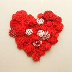 mizuhiki craft heart