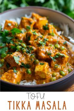 Tofu Tikka Masala is a flavorful, vegan version of the classic and very popular Indian recipe. With aromatic Indian spices, tofu, tomato sauce and coconut milk, it has become one of my favorite easy vegetarian meals to enjoy. It's creamy, delicious, and the perfect cozy dish to serve during the cold winter season! Best Tofu Recipes, Vegetarian Recipes Easy, Curry Recipes, Indian Food Recipes, Cooking Recipes, Ethnic Recipes, Vegan Tikka Masala, Tikka Masala Sauce, Tofu And Tomato Recipe