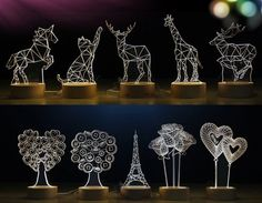 WOODLIFE - Лазерная резка, ширмы, подарки, слова Laser Cutter Ideas, Laser Cutter Projects, Table Lamp Wood, Wooden Lamp, Laser Cut Lamps, Trophy Design, Plexiglass, Glass Engraving, 3d Laser