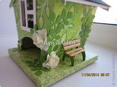 Producto de la artesanía Master class de cumpleaños de cartón casas de té y algo así como MK Papel Cartón foto 4