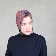 Spring fashion cloche hat plaid wool split brim  by TerryGraziano