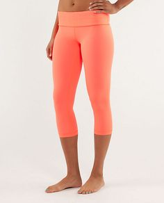 Lululemon - Wunder Under Crop - obsessed with this coral color!