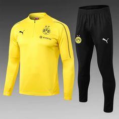 555b65e41 Borussia Dortmund 18 19 Yellow Men Tracksuit Slim Fit - zorrojersey Puma