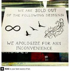 Haha Outside a tattoo shop! @Chentelle Vealencis- Smolinsky Hitchcock