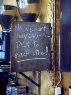 It is good to see people acknowledge the fact that people are so attached to their devices and it is hard to have a proper conversation with someone without being interrupted by their phone, not having any eye contact because you might have a text or you have to Instagram what you are doing in the moment. Talk with each other!