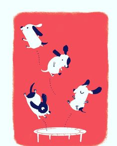 Happy little puppies by Ali Pye