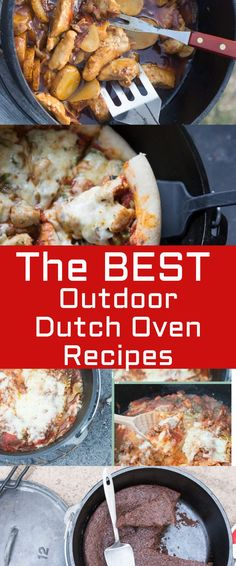 of the BEST Dutch Oven Recipes Dutch Oven Recipes / Best Dutch Oven Recipes / Dutch Oven Camping Breakfast And Brunch, Camping Breakfast, Breakfast Cooking, Brunch Food, Best Camping Meals, Camping Snacks, Camping Recipes, Camp Oven Recipes, Camping Ideas