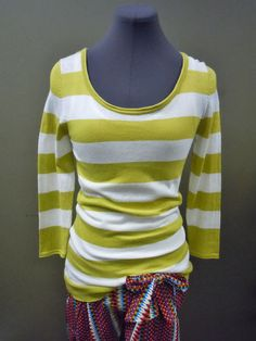 Sister Moses Lime Green and White Striped Spring Sweater. Stripes are the new polka dot Sistas. The perfect lightweigth sweater for those chilly days. Only $48!!!