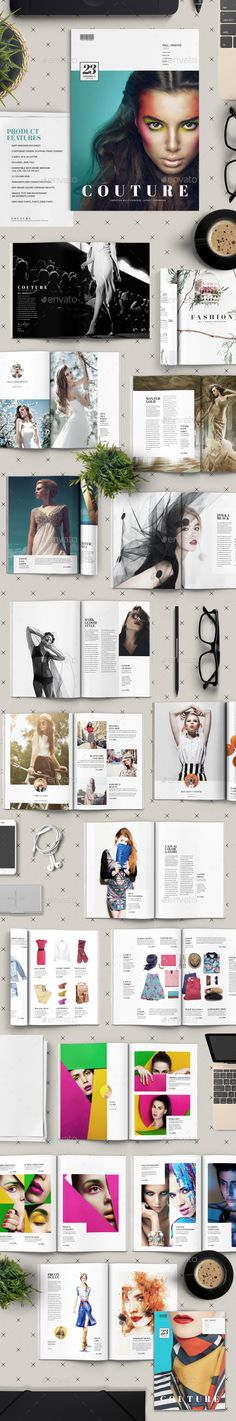 Couture Catalog Template InDesign INDD #design Download: http://graphicriver.net/item/couture-catalog/13610927?ref=ksioks